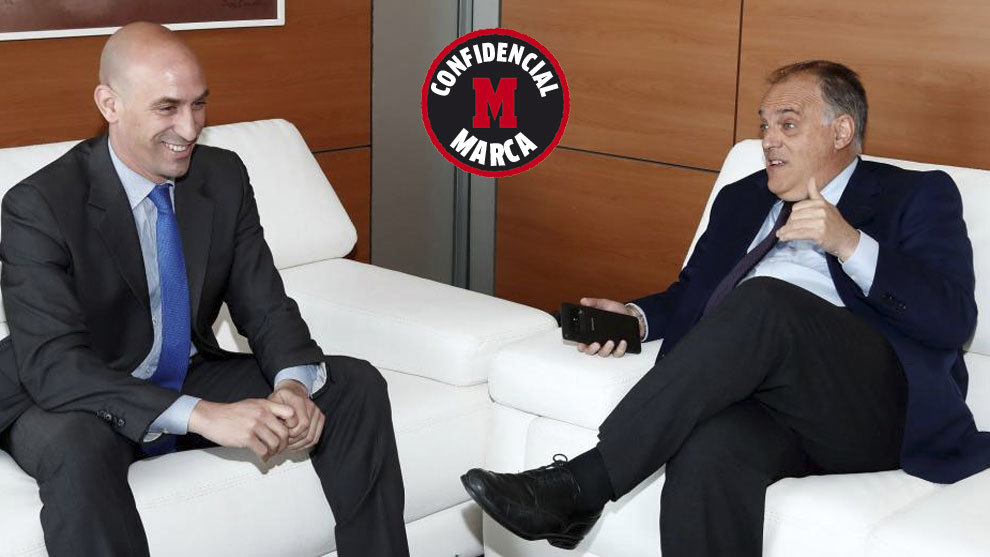 Juan Luis Rubiales and Javier Tebas, EFF and LaLiga Presidents
