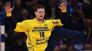 El guardameta danés Kevin Möller con el Flensburg /