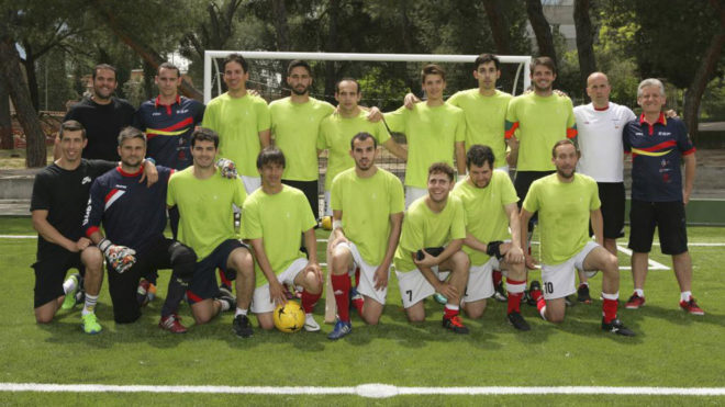 La selección española de fútbol 5 para ciegos.