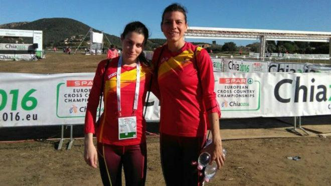 Mariajo Pérez, a la izquierda, junto a su compañera y amiga Irene...