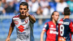 Iago Falque celebra un gol ante el Genoa
