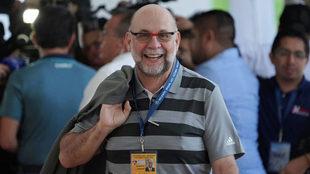 Gustavo Guzmán durante el DRAFT del fútbol mexicano