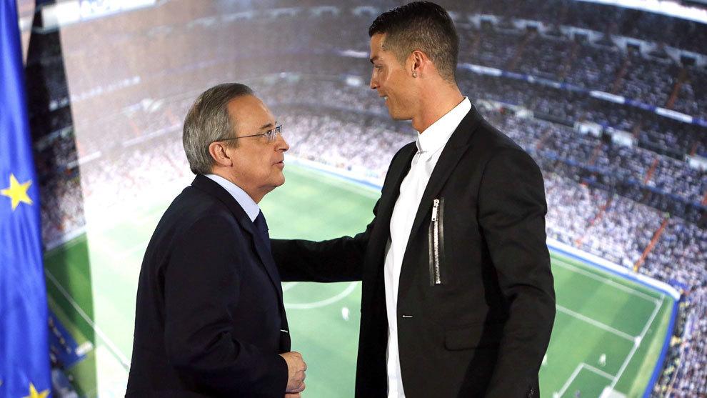 Florentino Perez and Cristiano Ronaldo.