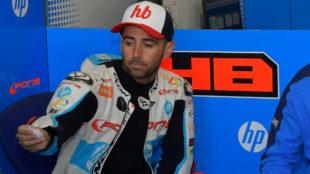 Héctor Barberá, en el box de Pons.