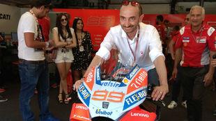 Domenicali, en Mugello, sobre la GP18 de Lorenzo.