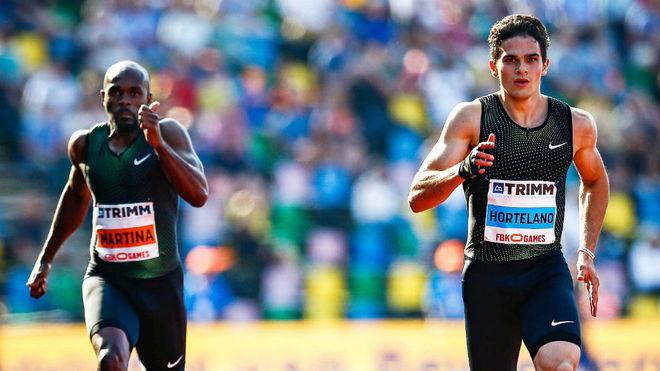Bruno Hortelano y Martina, en los 200 metros de Hengelo