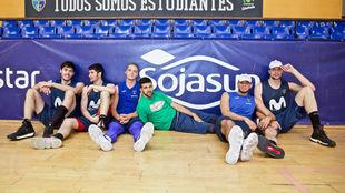 De izquierda a derecha, Edgar Vicedo, Brizuela, Hakanson, Cvetkovic,...
