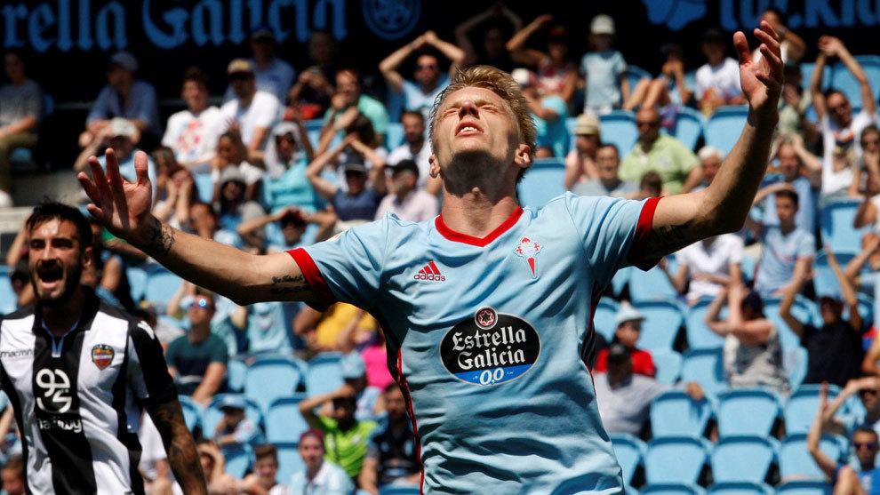 Daniel Wass, durante el partido frente al Levante de la última...