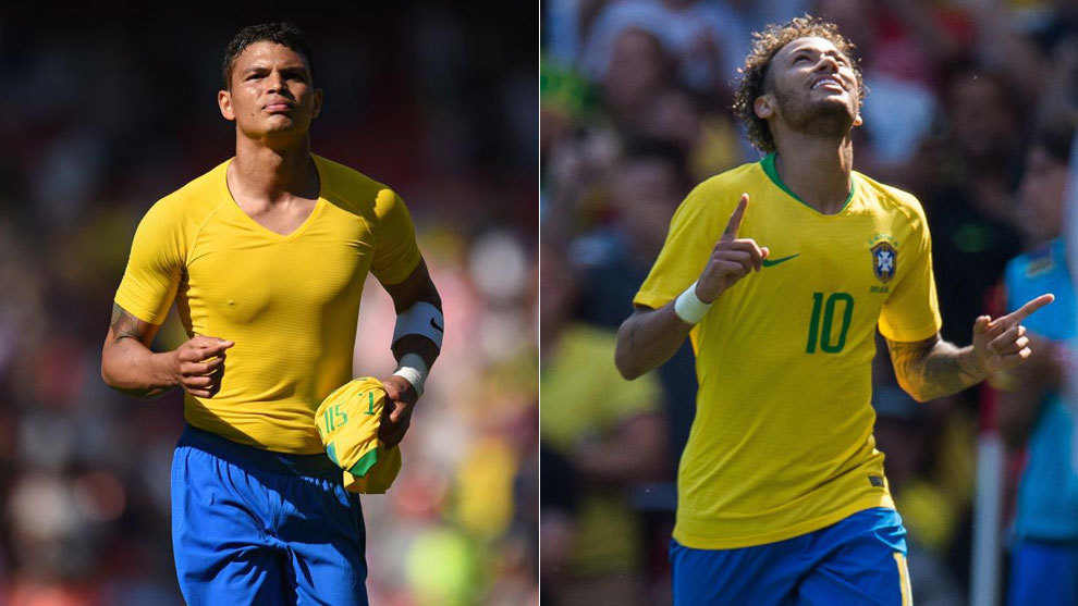 Thiago Silva or Neymar (Brazil). 33 and 26