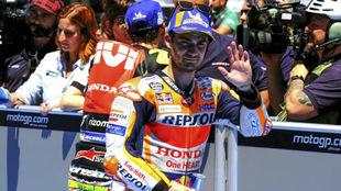 Dani Pedrosa, en Jerez.