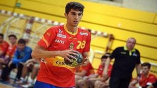 Antonio Serradina durante un partido con los 'Hispanos...