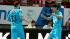 Gadeia y Daniel celebran uno de los goles.