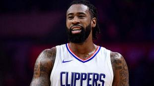 DeAndre Jordan jugando con Los Ángeles Clippers