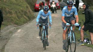 Nairo Quintana y Mikel Landa, en la Vuelta al País Vasco 2018.