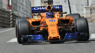 Auto de Fernando Alonso para el GP Canadá F1 2018.