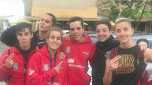 El equipo femenino español presente en el Europeo de Bulgaria.