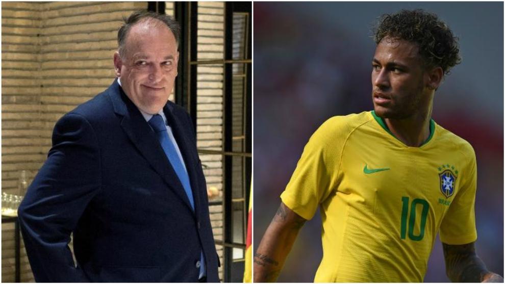 Tebas and Neymar.