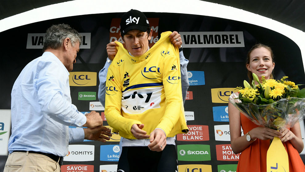 Geraint Thomas se vistió de amarillo tras la quinta etapa del...