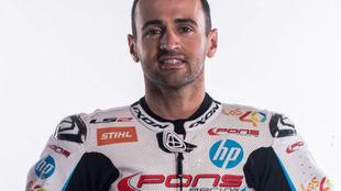 Héctor Barberá, con el equipo Pons.