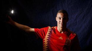 Rodrigo, delantero de la selección española.