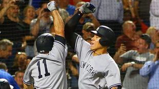 Yankees celebra triunfo sobre los Mets
