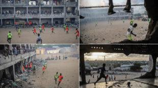 Niños jugando al fútbol en Mogadishu (Somalia)
