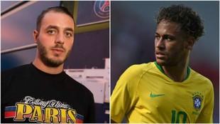 Romain Mabille y Neymar.