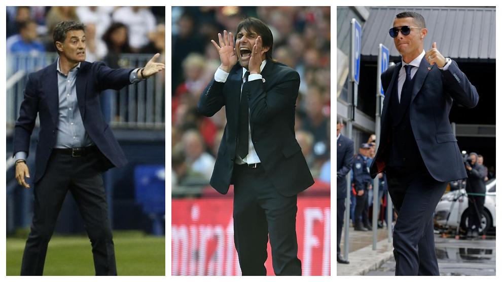 Michel, Conte and Ronaldo.