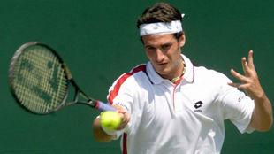 El español Galo Blanco, en el Torneo de Tenis de Wimbledon cuando era...