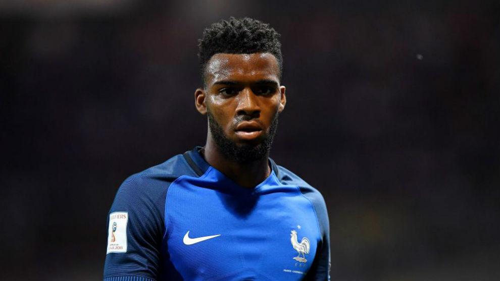 Lemar, en un partido con la selección francesa