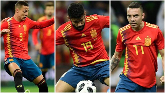 Rodrigo, Diego Costa and Aspas