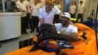 Ibaka se montó en el McLaren de Alonso