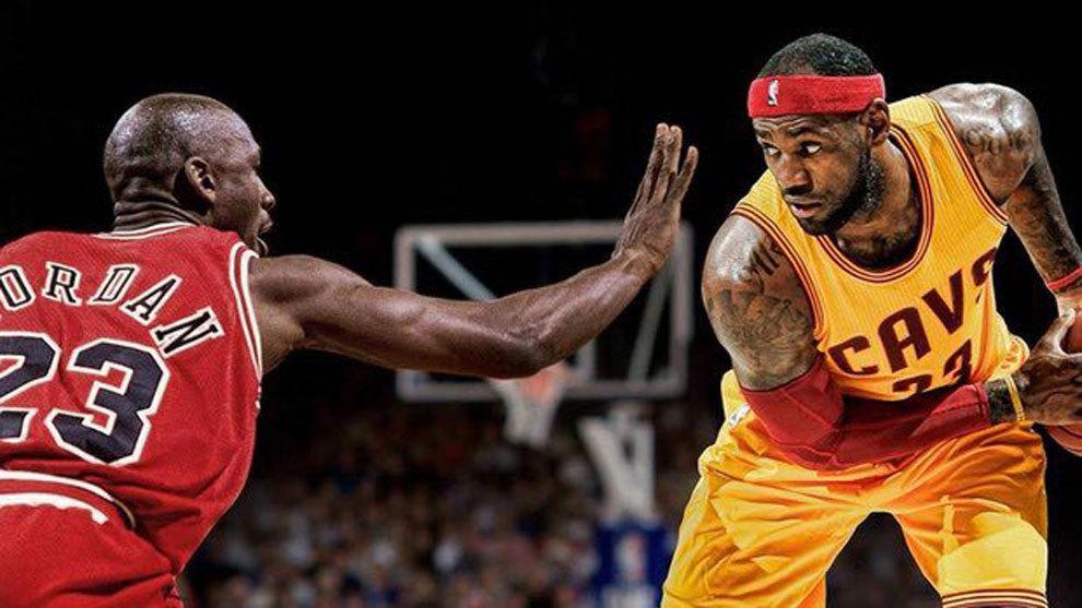 Resultado de imagen para Jordan y LeBron