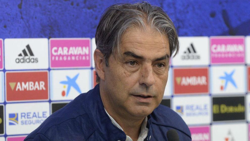Natxo González ha anunicado este lunes su salida del Zaragoza.