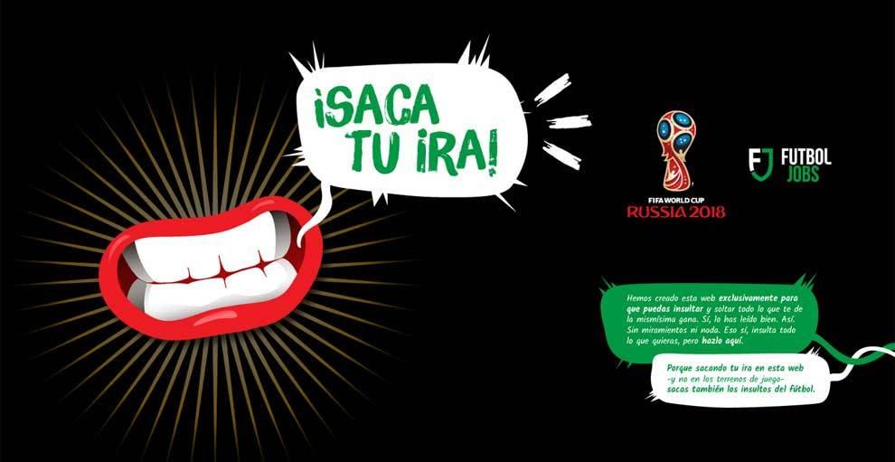 Inicio de sacatuira.com, la web para insultar en el Mundial y...