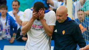 El delantero del Zaragoza, Borja Iglesias