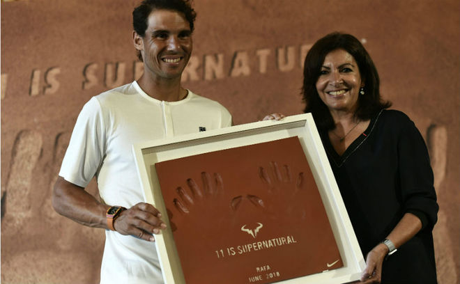 Rafa Nadal and Anne Hidalgo.
