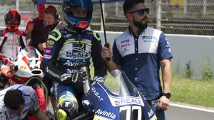 Andreas Pérez, sobre su moto