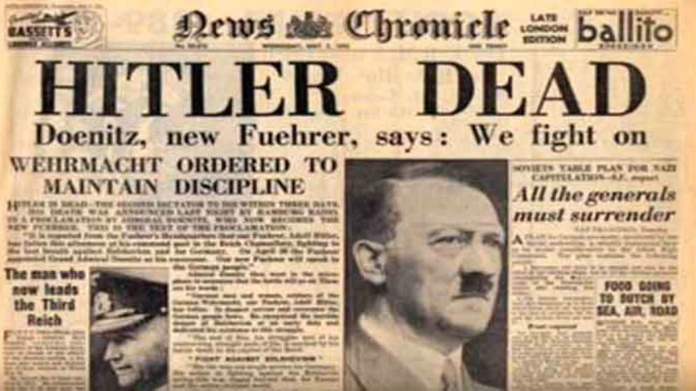 On April 30, 1945, Adolf Hitler died. Official sources say he...