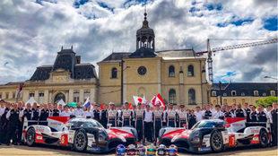 El equipo Toyota que participará en las 24 horas de Le Mans
