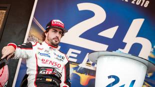 Fernando Alonso, ya en Le Mans.
