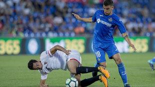 Arambarri durante un partido ante el Sevilla.