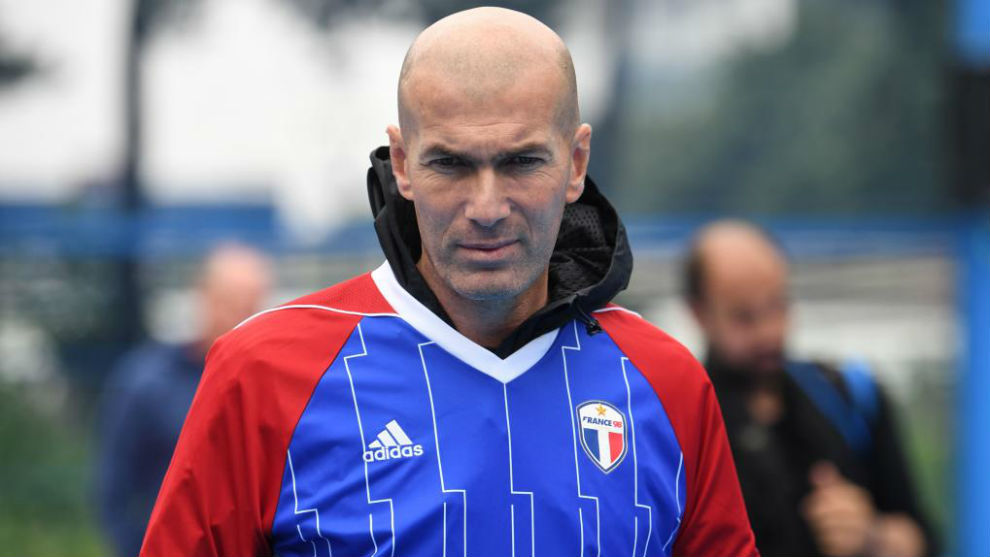 Zinedine Zidane happy to have his feet up
