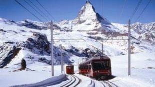 Sion es la mayor aglomeración de Valais, el cantón de esquí por...