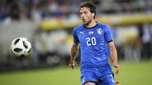 Simone Verdi, durante un partido con Italia.