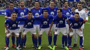 Uno de los onces titulares del Oviedo de esta temporada