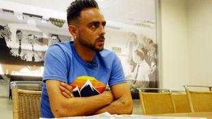 Sergio García, durante la entrevista en Marca.