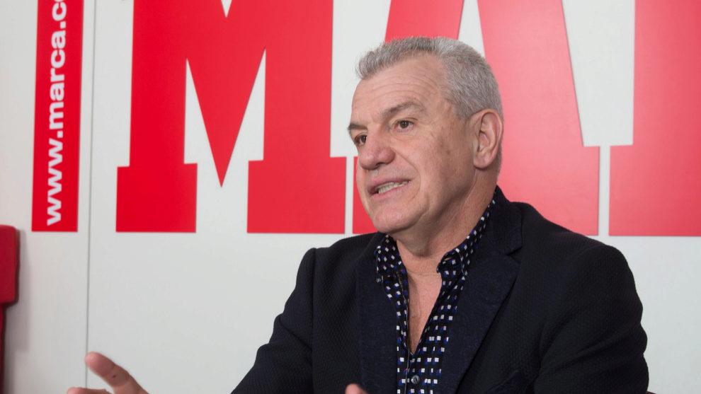 Javier Aguirre durante una entrevista para MARCA