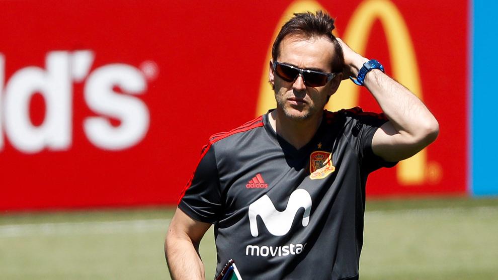 Julen Lopetegui fue destituido como seleccionador español