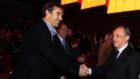 Lopetegui saluda a Florentino en el Trofeo Pichichi de MARCA de 2013